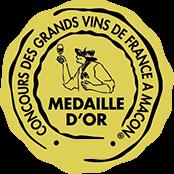 Médaille d'Or - Concours des grands vins de france